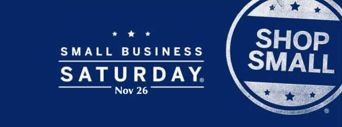 Shop with Us on Nov 26 Small Business Saturday