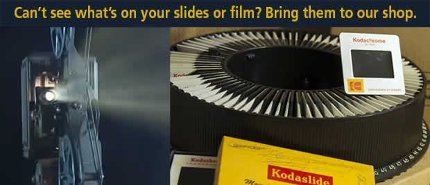 35mm slides and all popular sizes of movie film to DVD