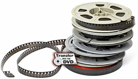 Film to DVD, 8mm, Super 8mm and 16mm Home Movies to DVD