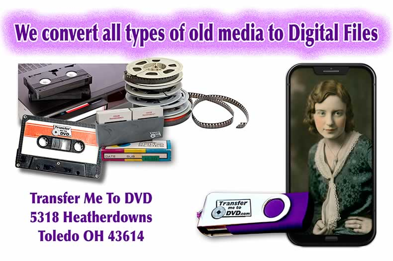 We Digitize all types of old analog media to preserve family memories