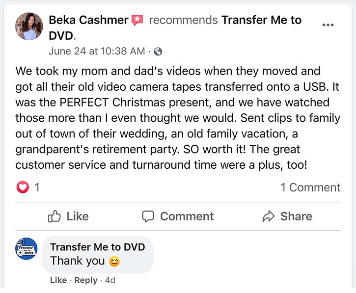 Facebook review by Beka Cashmer